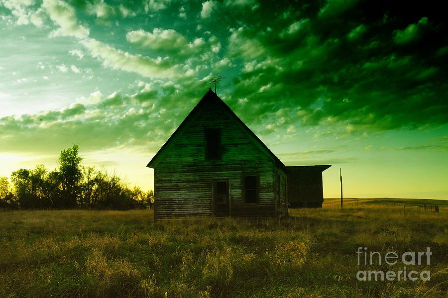 Houses Photograph - An Old North Dakota Farm House by Jeff Swan