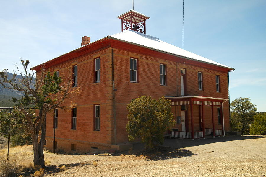 Old Photograph - An Old School In White Oaks New Mexico by Jeff Swan