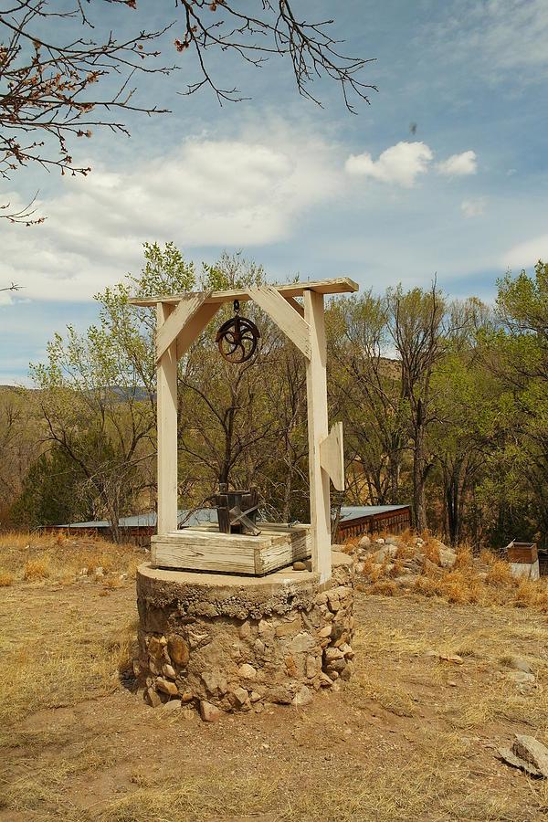 Water Photograph - An Old Well In Lincoln City New Mexico by Jeff Swan
