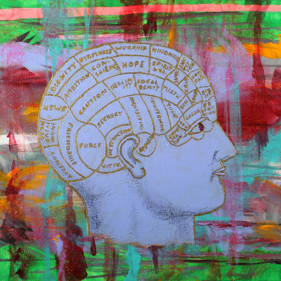 Phrenology Painting - An Ordered Mind by Julianne Hunter