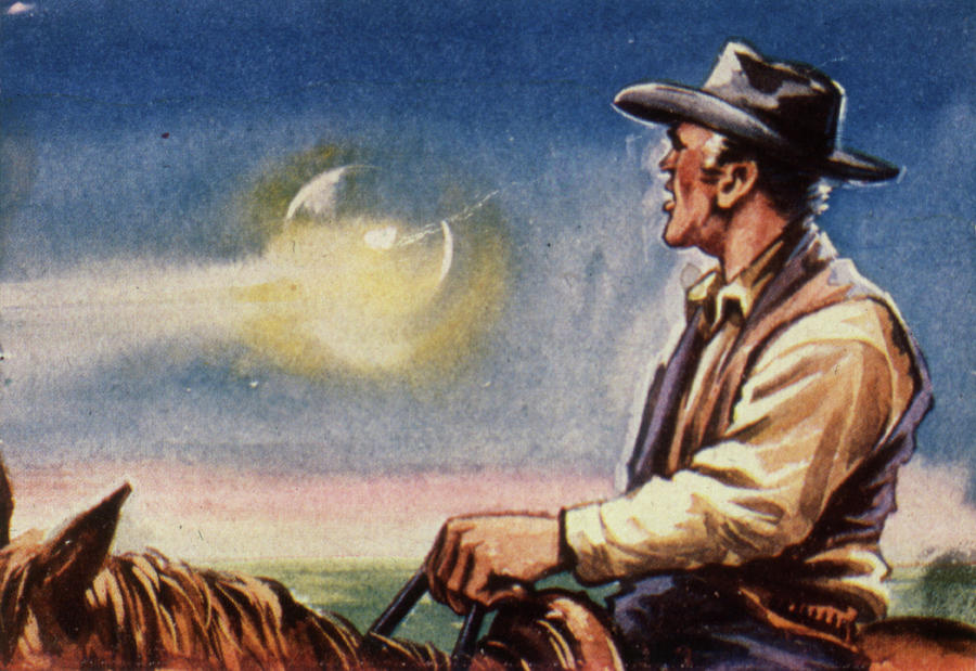 Ufos Drawing - An Unnamed Rancher In Arizona  Sees by Mary Evans Picture Library
