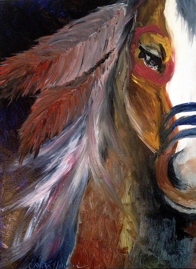 Horse Painting - Anaba by Whitney Nanamkin