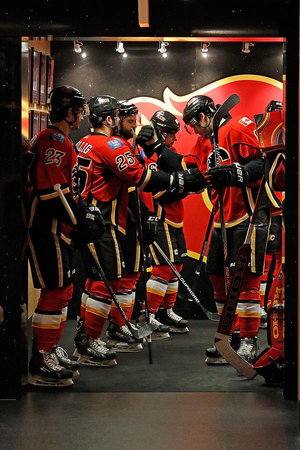 Anaheim Ducks V Calgary Flames - Game Photograph by Brad Watson