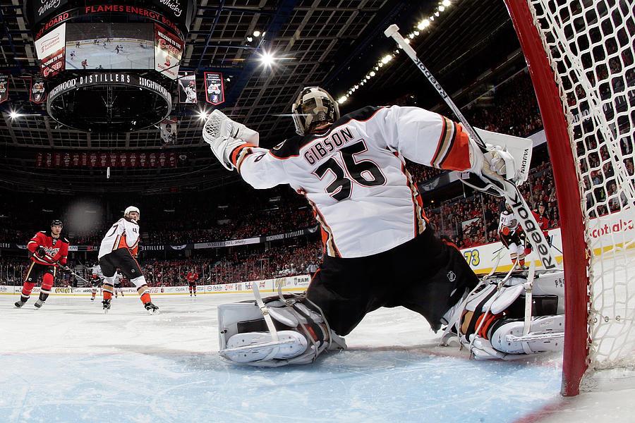 Anaheim Ducks V Calgary Flames Photograph by Gerry Thomas