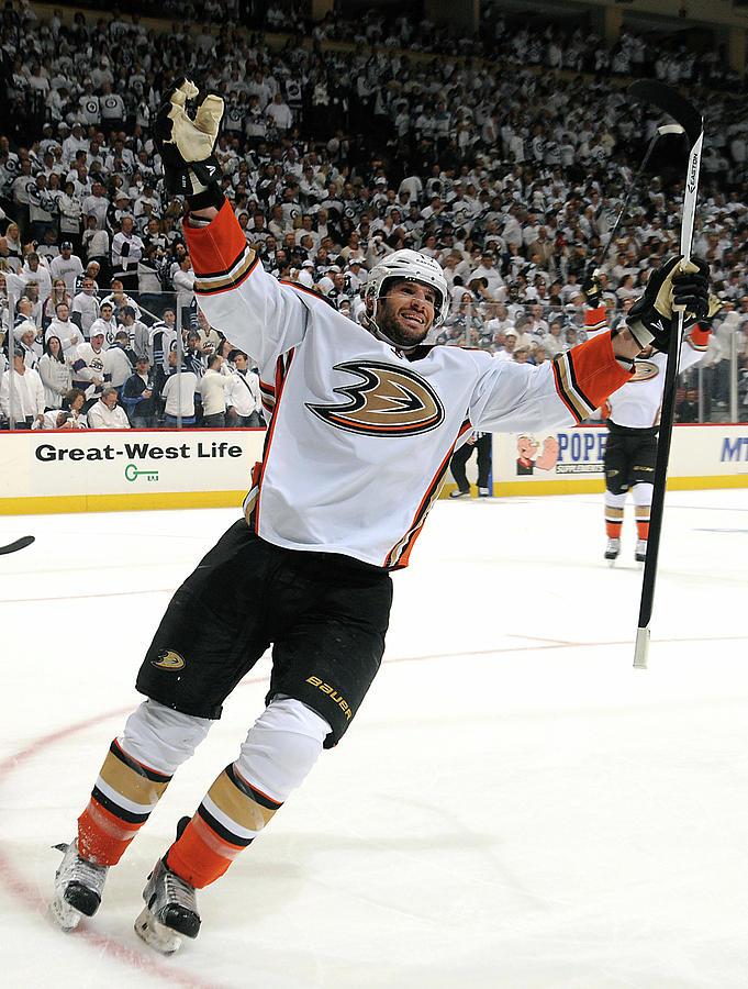 Anaheim Ducks V Winnipeg Jets - Game Photograph by Lance Thomson