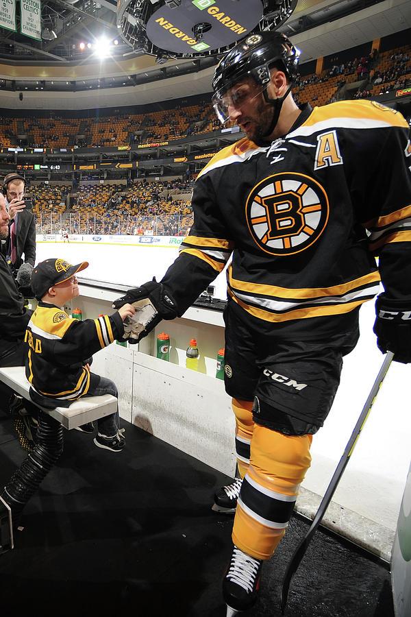 Anahiem Ducks V Boston Bruins Photograph by Steve Babineau
