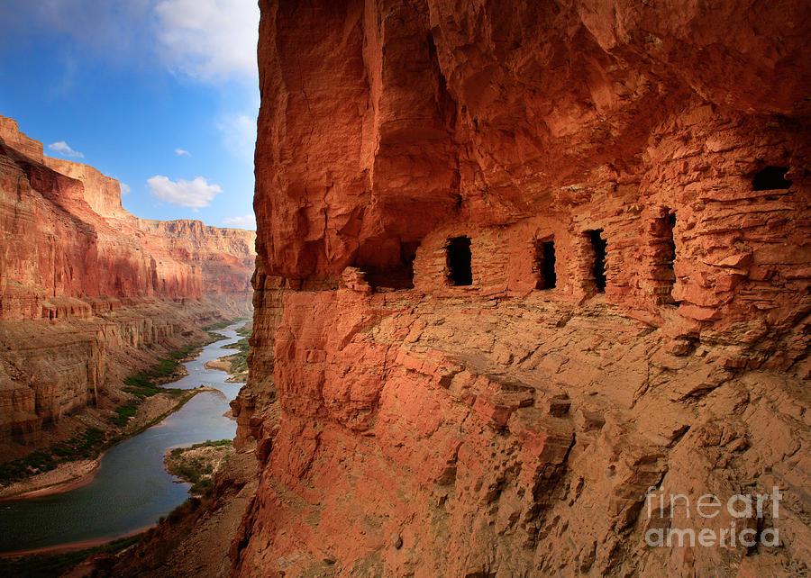 Grand Canyon Photograph - Anasazi Granaries by Inge Johnsson