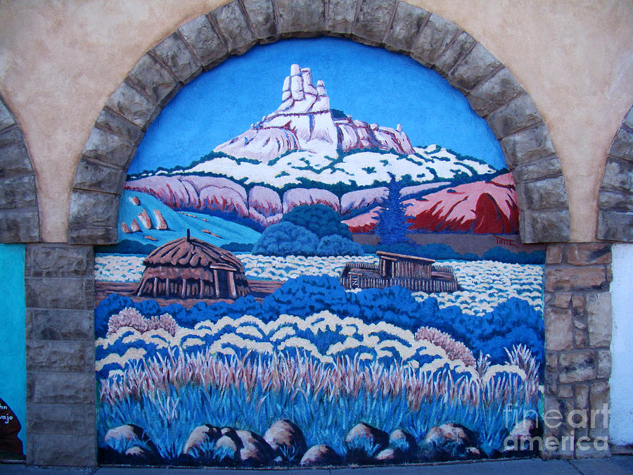 Painting Photograph - Anasazi Wall Art by Eva Kato