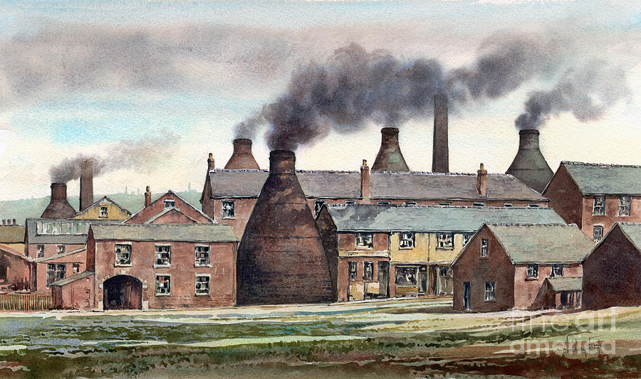Stoke-on-trent Painting - Anchor Road Pot Works by Anthony Forster