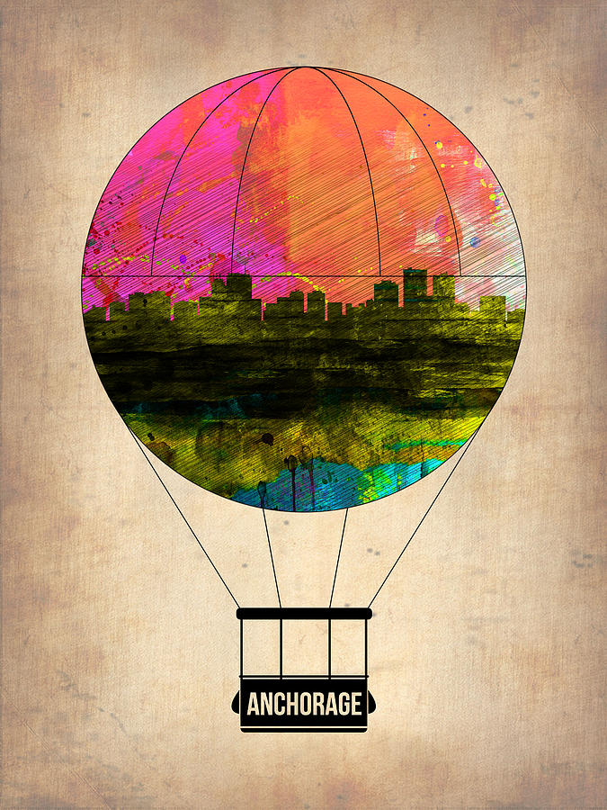 Anchorage Painting - Anchorage Air Balloon  by Naxart Studio