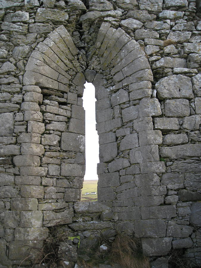 Ruins Photograph - Ancient Abbey Window Ireland by Margaret Hodgson