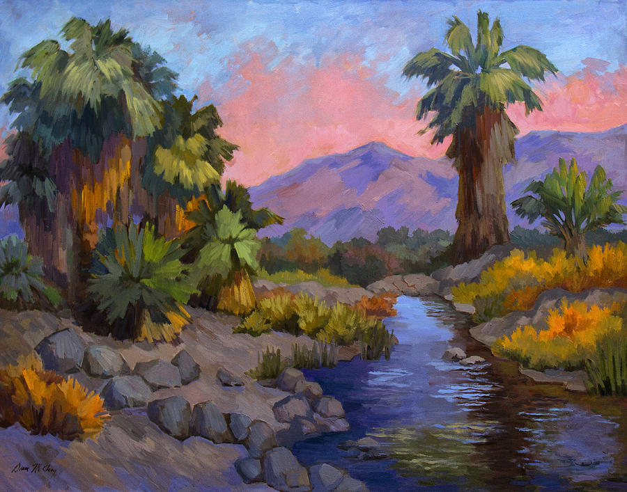 Fish Traps Painting - Ancient Cahuilla Fish Traps by Diane McClary
