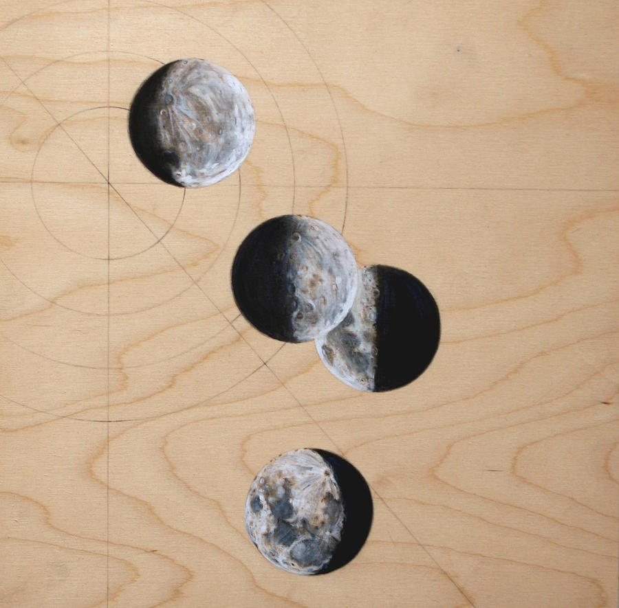 Moon Drawing - Ancient Circles by Stacey Sherman