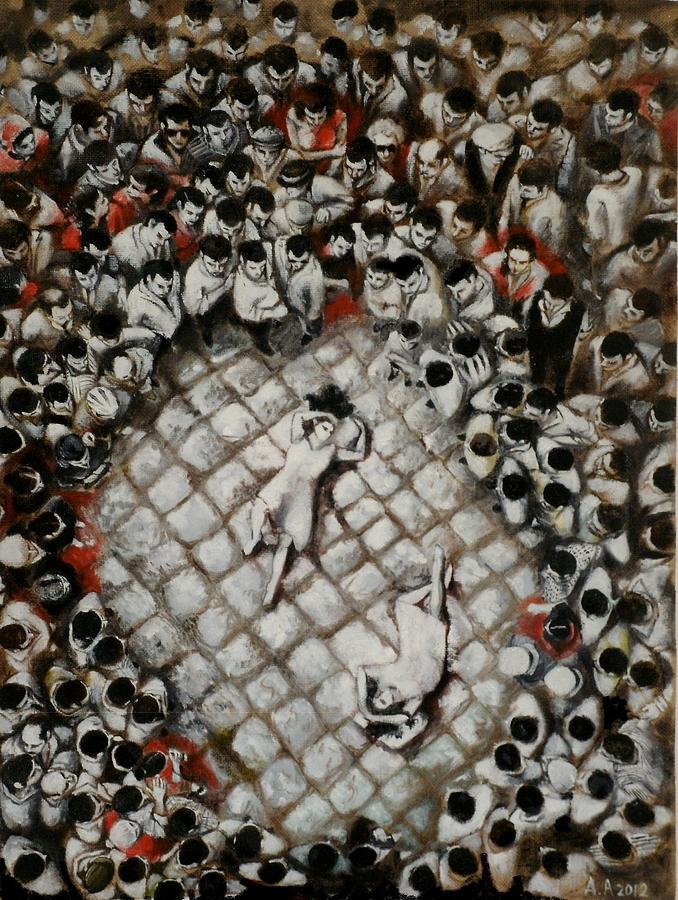People Painting - Ancient Dancers Of The Tarantula Dance by Alessandra Andrisani