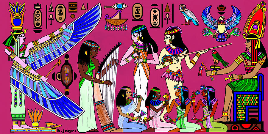 Egypt Painting - Ancient Egypt Splendor by Hartmut Jager