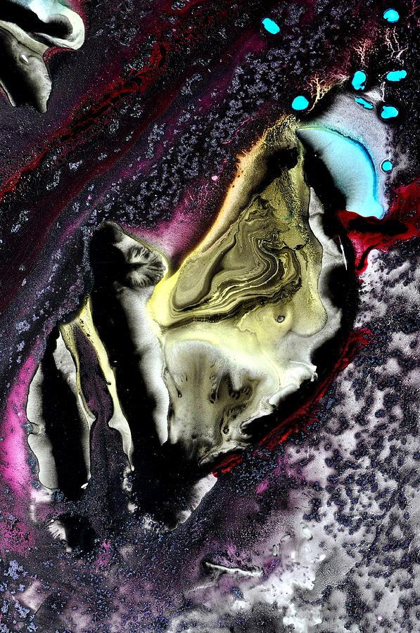 Dark Painting - Ancient Evidence by Christine Ricker Brandt