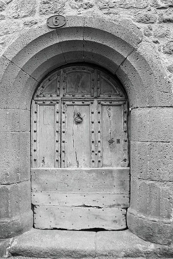 Ancient French Door In Pézenas Photograph by Violettenlandungoy
