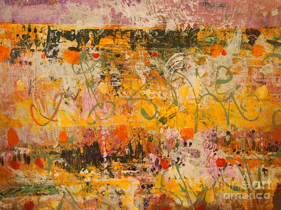 Pinks Painting - Ancient Gardens 4 by Nancy Kane Chapman