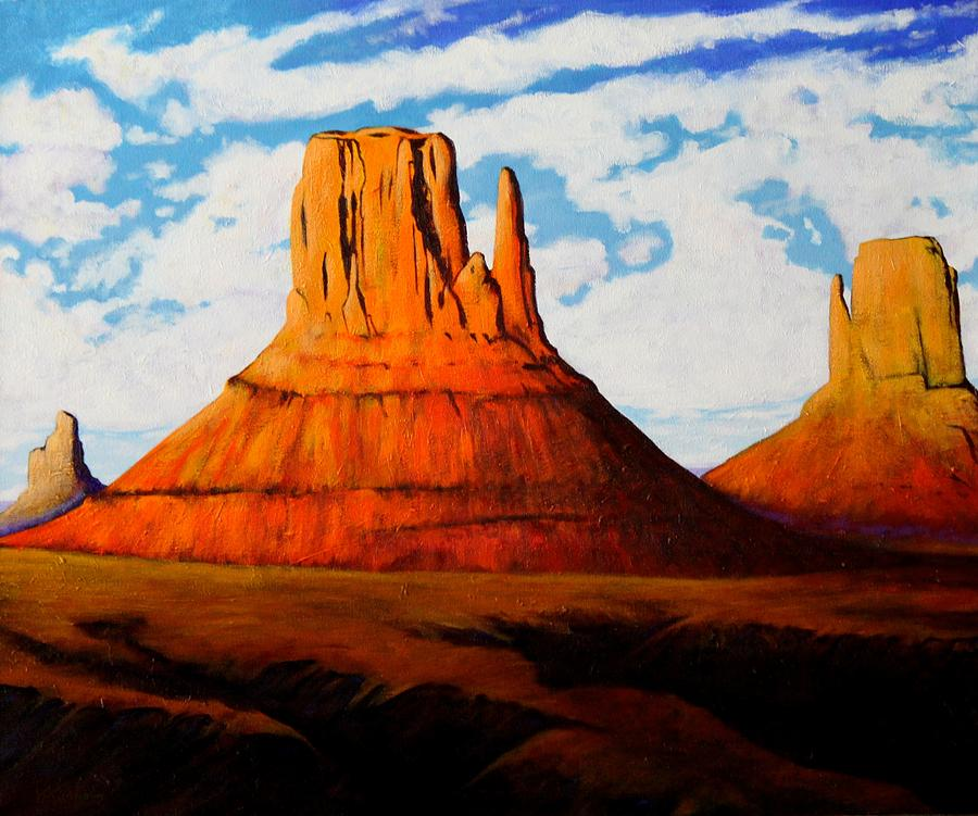 Monument Valley Painting - Ancient Land Monument Valley by Joe  Triano