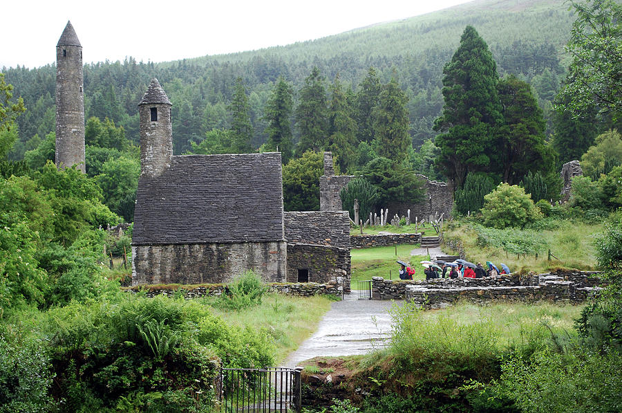Ancient Photograph - Ancient Monastic Ruins Of St by Lynn Seldon