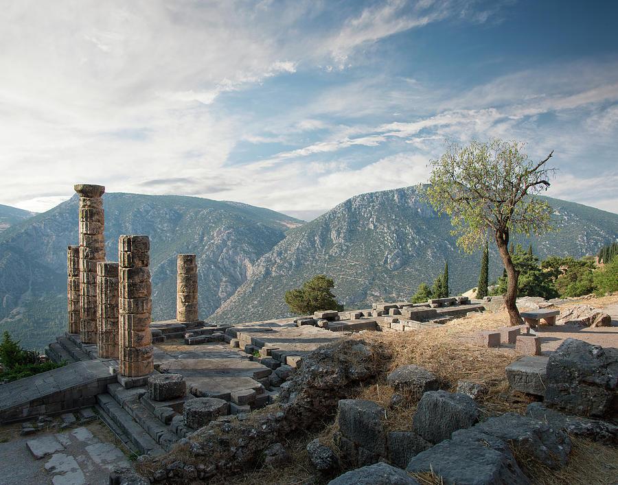 Ancient Ruins At Delphi, Greece Photograph by Ed Freeman