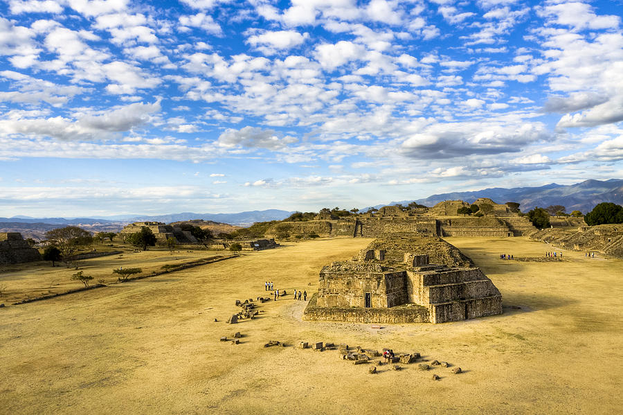 Zapotec Photograph - Ancient Ruins Of A Zapotec Temple by Mark E Tisdale