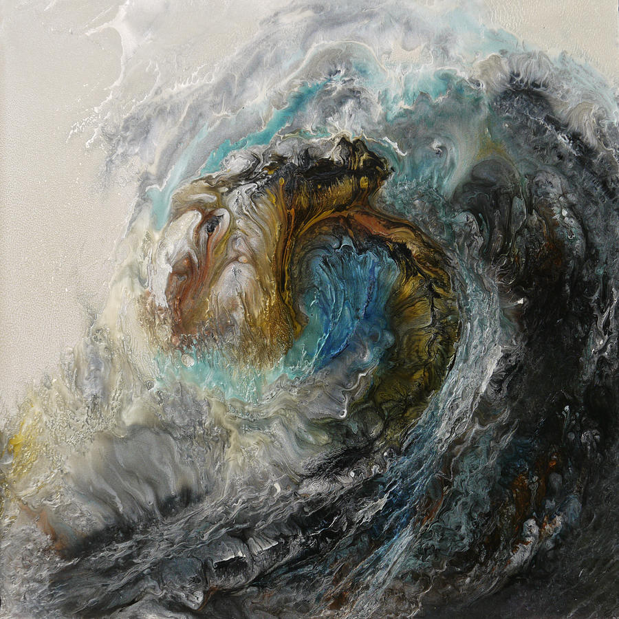 Water Painting - Ancient Seas Sold by Lia Melia