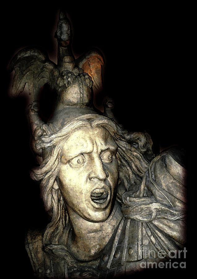Statue Photograph - Ancient Soldier by Patricia Januszkiewicz