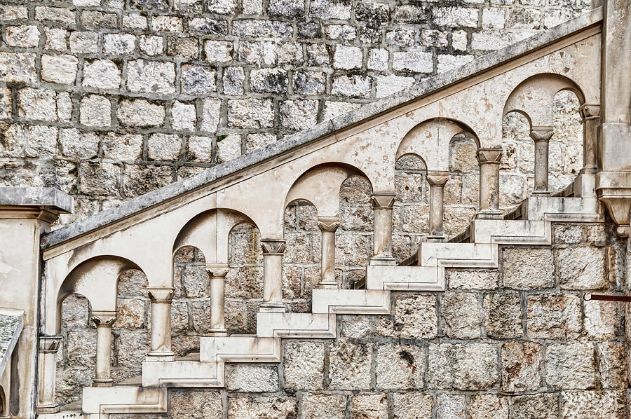 Ancient Stone Stairway Photograph by Ogphoto