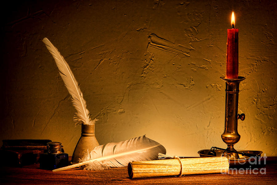 Quill Photograph - Ancient Texting by Olivier Le Queinec