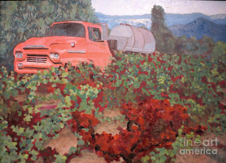 Vineyard Painting - Ancient Truck by Donna Schaffer