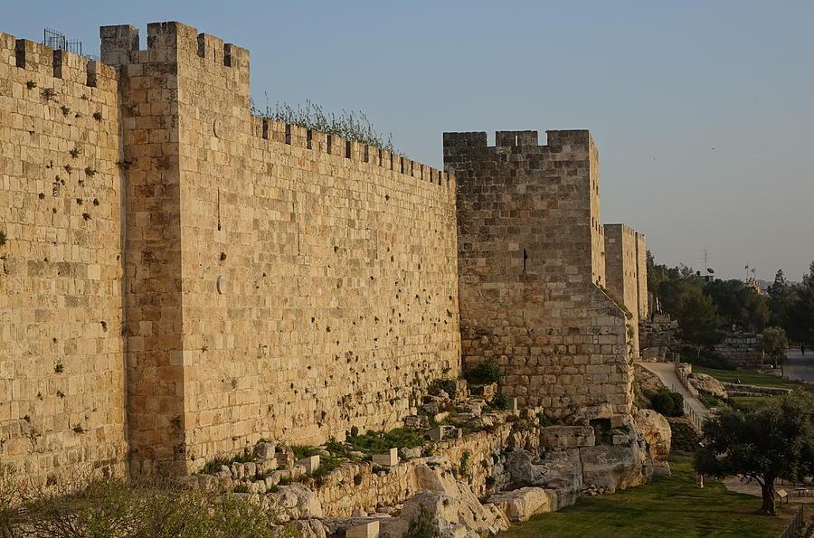 Ancient walls of Jerusalem by Rita Adams