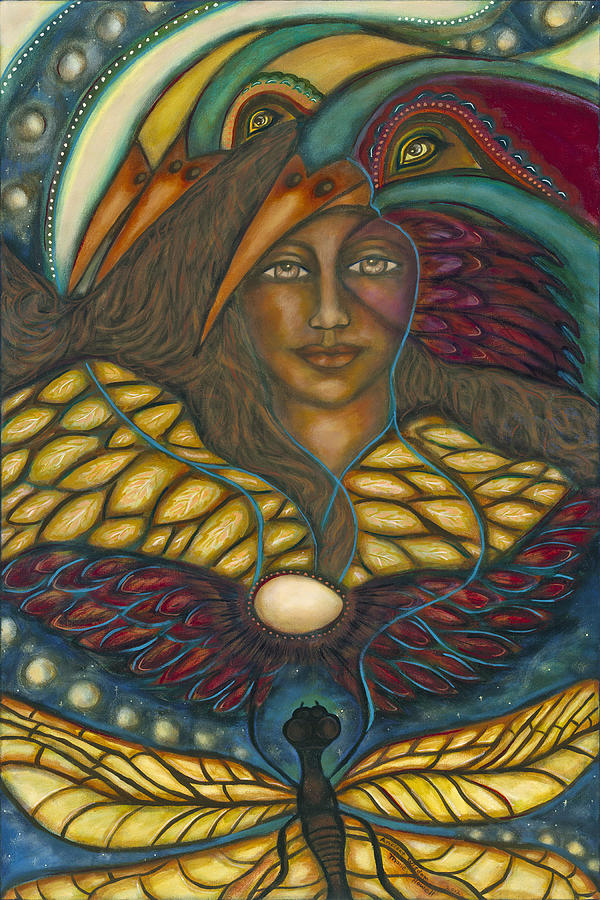 Visionary Art Painting - Ancient Wisdom by Marie Howell Gallery