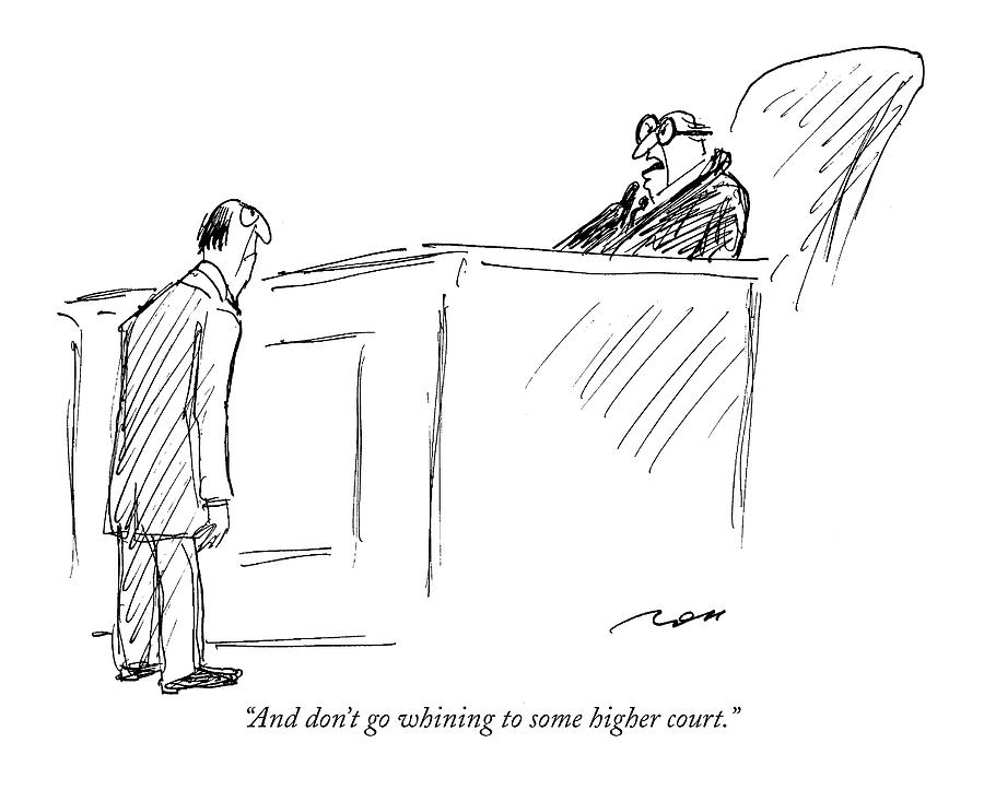 And Dont Go Whining To Some Higher Court Drawing by Al Ross