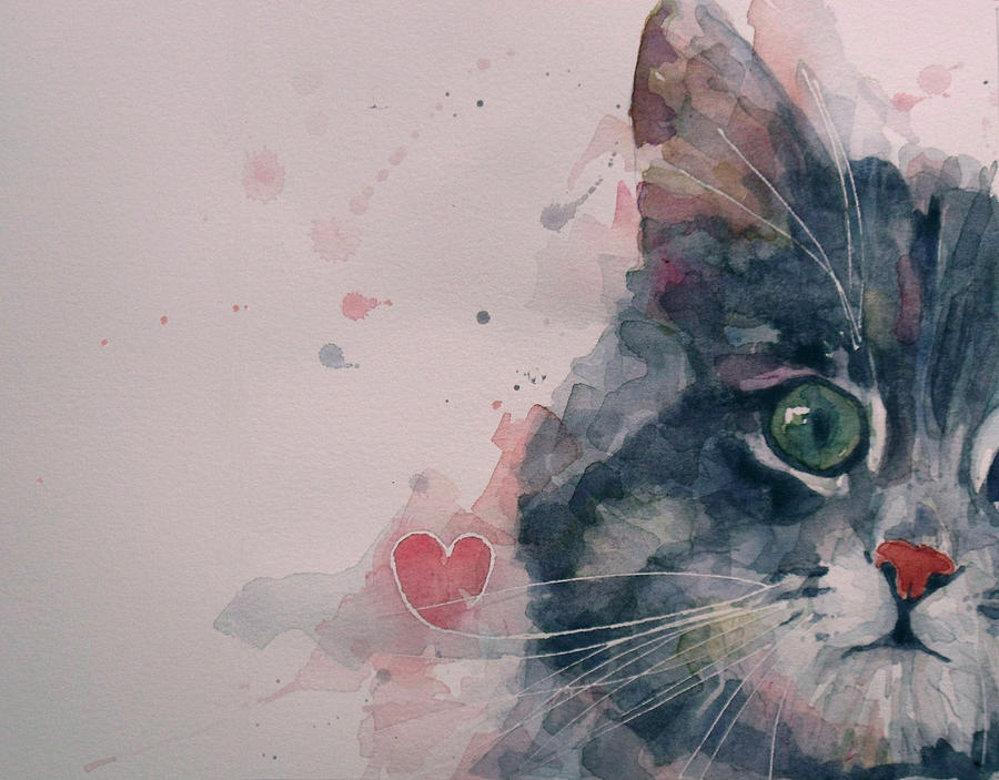 Cats Painting - And I Love Her by Paul Lovering