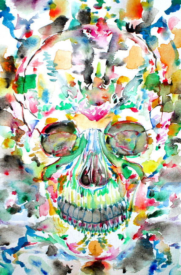 Skull Painting - And Joining At Last Its Mighty Origin by Fabrizio Cassetta