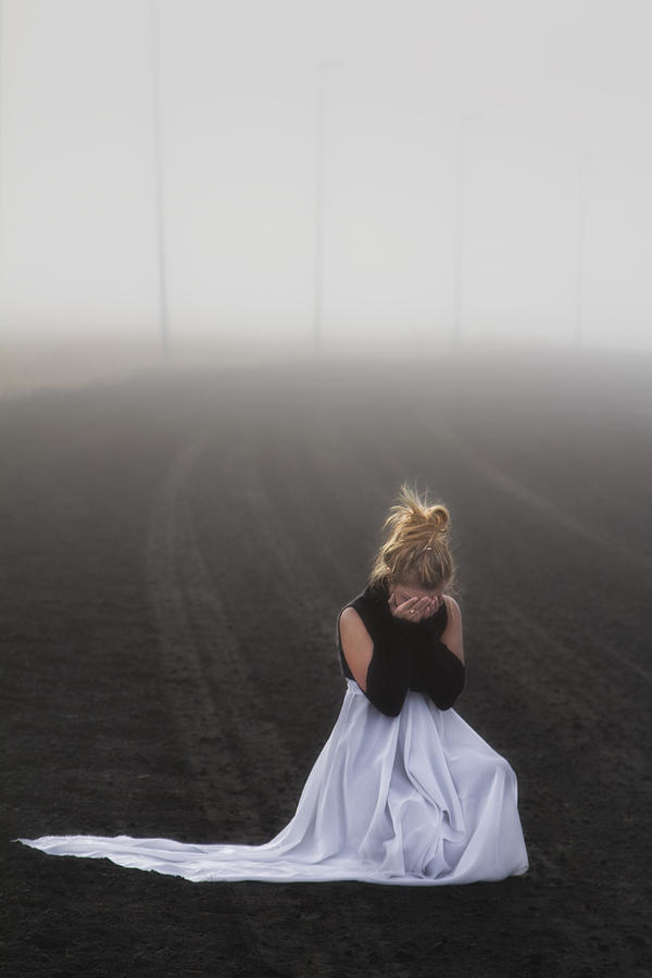 Girl Photograph - And Tears Shall Drown The Wind by Evelina Kremsdorf