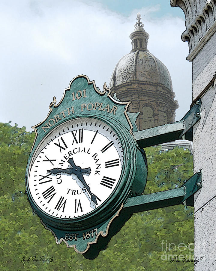 Clock Photograph - And The Time Is by Lee Owenby