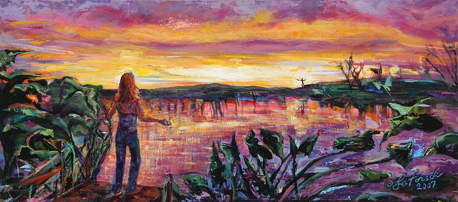 Sunrise Painting - And Then She Was Gone by Susi LaForsch