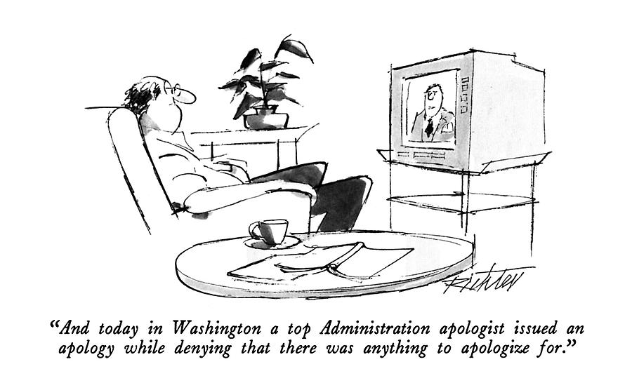 And Today In Washington A Top Administration Drawing by Mischa Richter