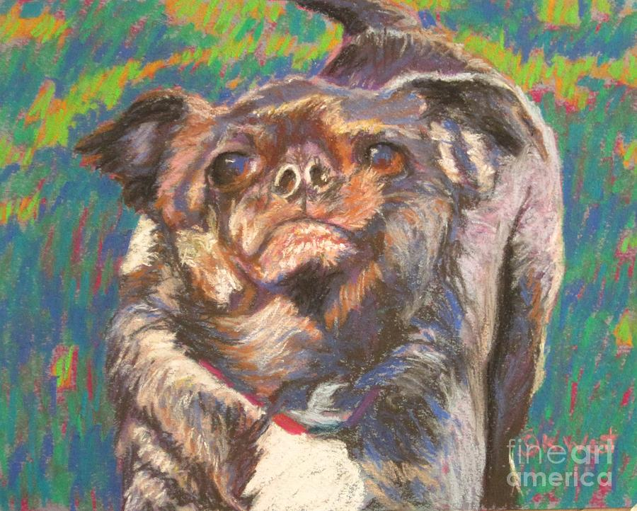 Animal Portrait Painting - And Your Little Dog Too by Katrina West