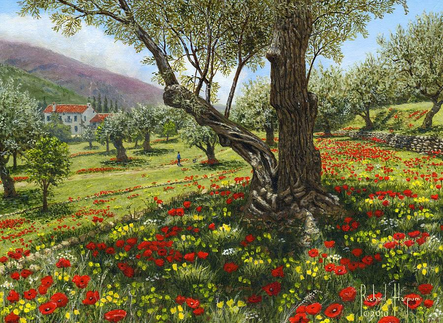 Andalucia Painting - Andalucian Olive Grove by Richard Harpum