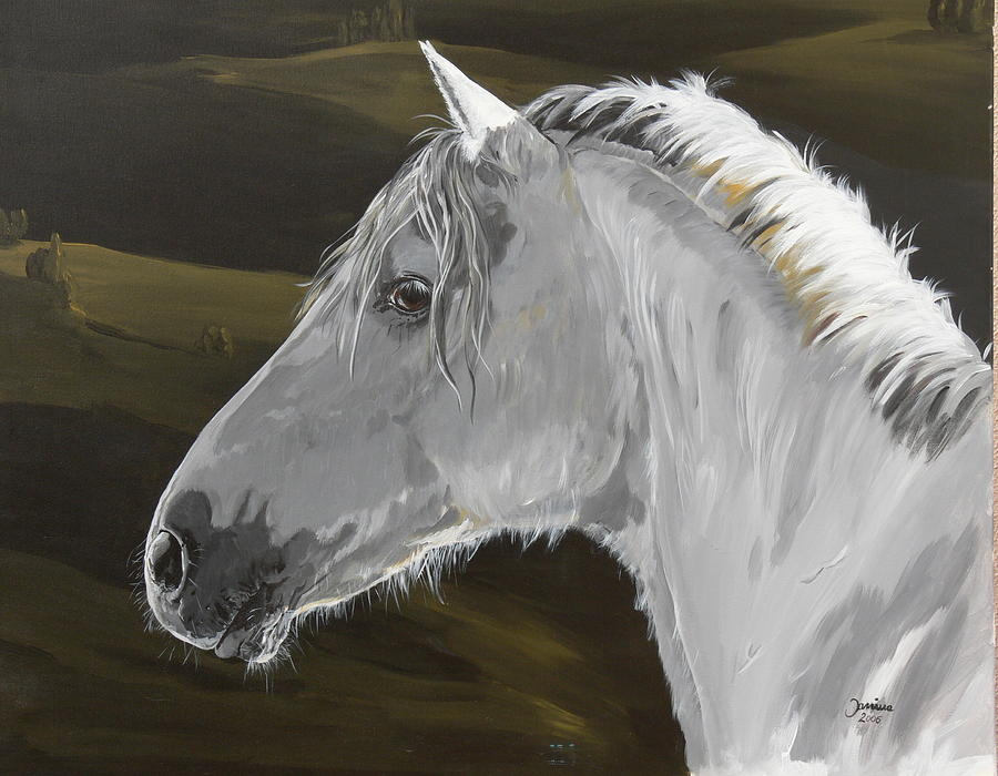 Acrylic Prints Painting - Andalusian Foal by Janina  Suuronen