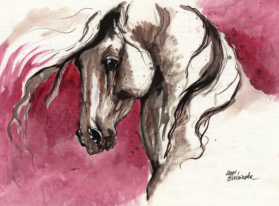 Andalusian Horse Acrylic Painting Painting By Angel