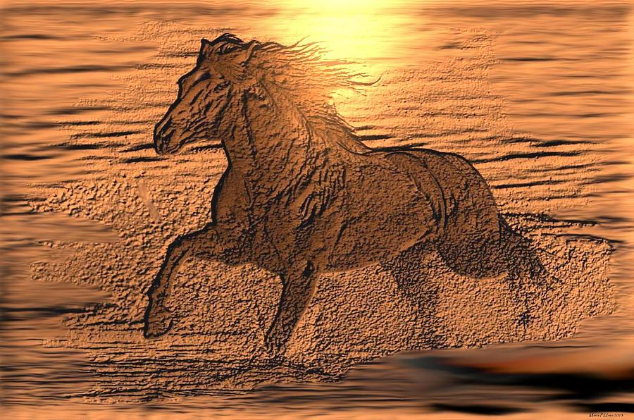 Andalusian Digital Art - Andalusian Sunset by Maria Urso
