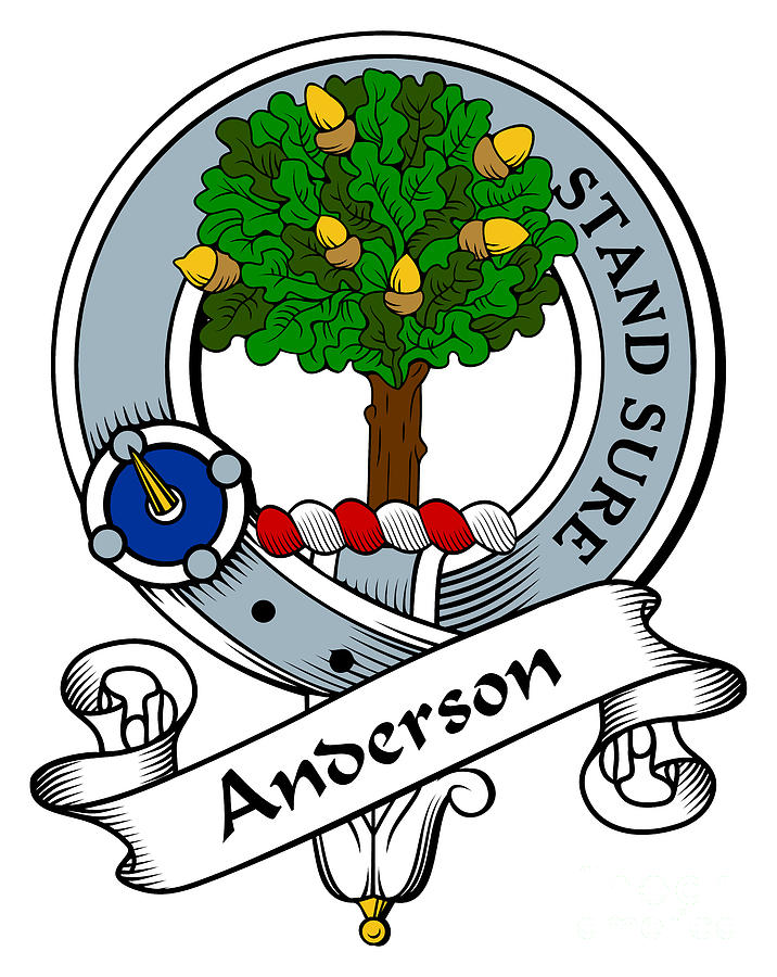 Anderson clan bagde digital art by heraldry for Family motto tattoos