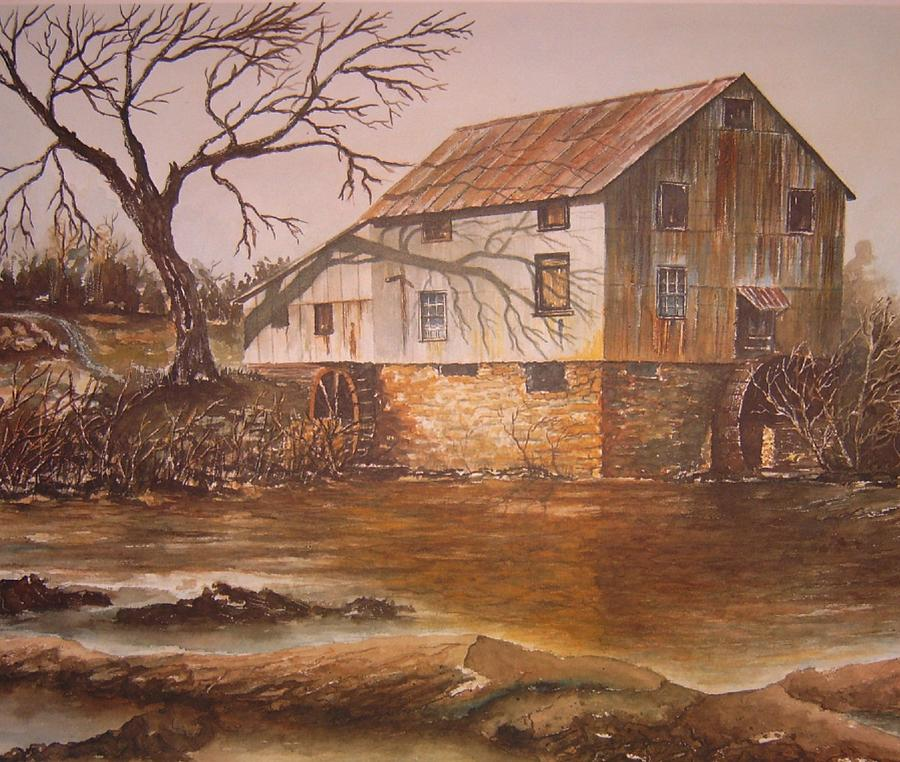 Landscape Painting - Anderson Mill by Ben Kiger