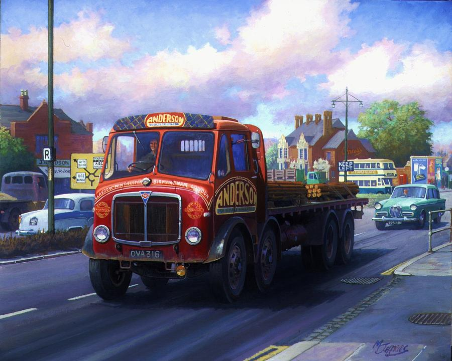 Lorry Painting - Andersons Of Newhouse. by Mike  Jeffries