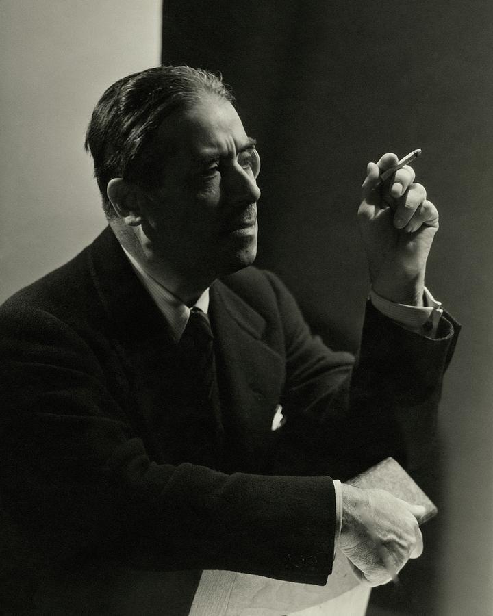 Andre Geraud Smoking Photograph by George Hoyningen-Huene