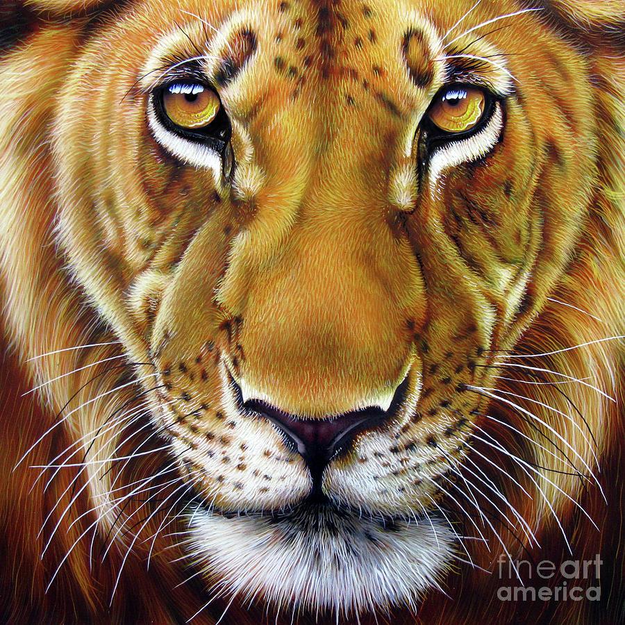 Lion Painting - Andre Lion by Jurek Zamoyski